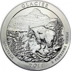 JAV 25 centai, 2011 Glacier, Montana