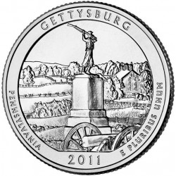 JAV 25 centai, 2011 Gettysburg, Pennsylvania