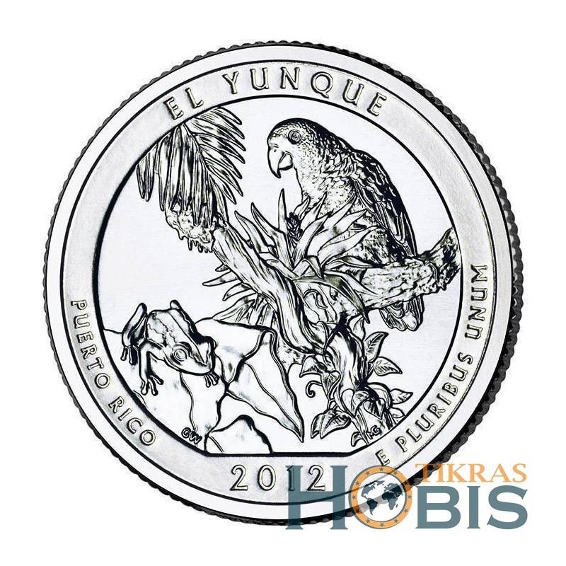 JAV 25 centai, 2012 El Yunque, Puerto Rico