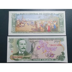Kosta Rika 5 Colones, 1991...