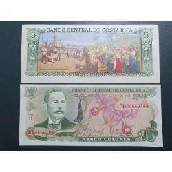 Kosta Rika 5 Colones, 1986...