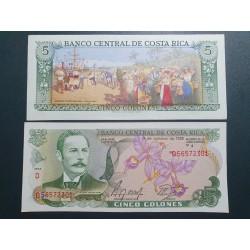 Kosta Rika 5 Colones, 1989...