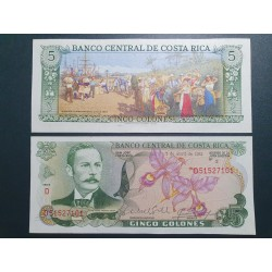 Kosta Rika 5 Colones, 1983...
