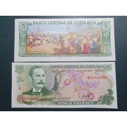 Kosta Rika 5 Colones, 1992...