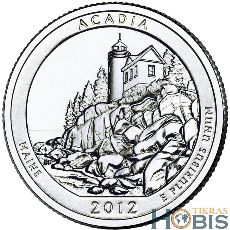 JAV 25 centai, 2012 Acadia, Maine