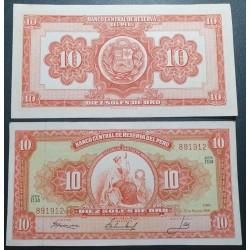 Peru 10 Soles de Oro, 1966...