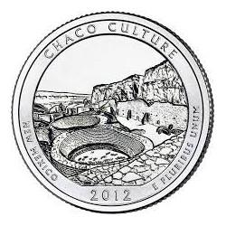 JAV 25 centai, 2012 Chaco Culture, New Mexico