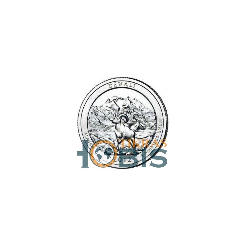 JAV 25 centai, 2012 Denali, Alaska