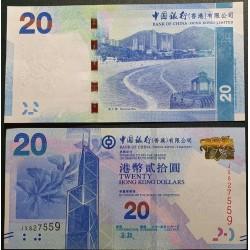Hong Kong  20 Dollars, 2015...