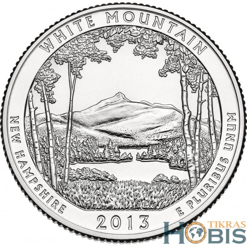 JAV 25 centai, 2013 White Mountain, New Hampshir
