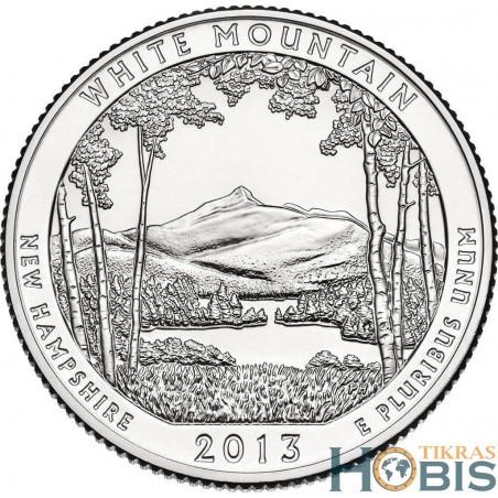 JAV 25 centai, 2013 White Mountain, New Hampshir