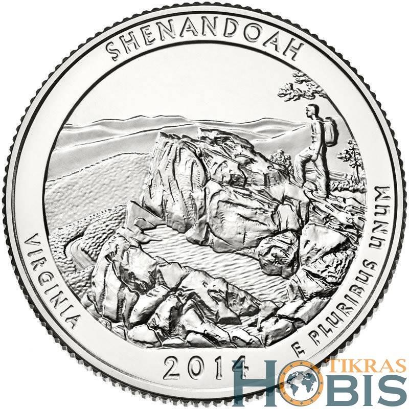 JAV 25 centai, 2014 Shenandoah, Virginia