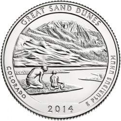 JAV 25 centai, 2014 Great Sand Dunes, Colorado