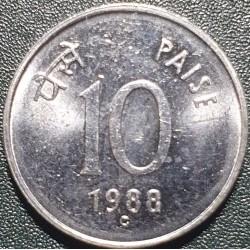 Indija 10 paisų, 1988 KM40.1