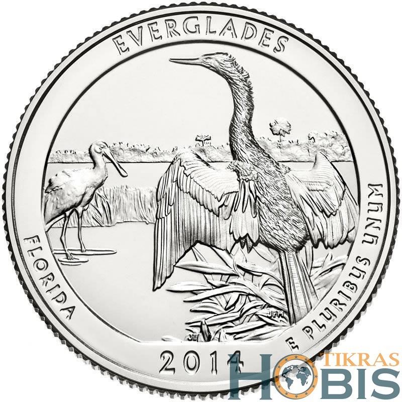 JAV 25 centai, 2014 Everglades, Florida