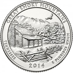 JAV 25 centai, 2014 Great Smoky Mountai, Tennessee