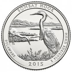 JAV 25 centai, 2015 Bombay Hook, Delaware