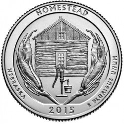JAV 25 centai, 2015 Homestead, Nebraska