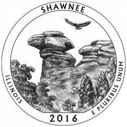 JAV 25 centai, 2016 Shawnee, Illinois