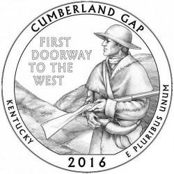 JAV 25 centai, 2016 Cumberland Gap, Kentucky