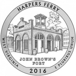 JAV 25 centai, 2016 Harpers Ferry, West VIrginia
