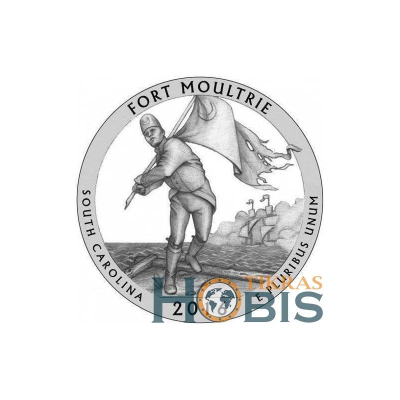 JAV 25 centai, 2016 Fort Moultrie, South Carolina