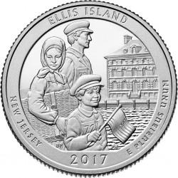 US 25 cents, 2017 Ellis...