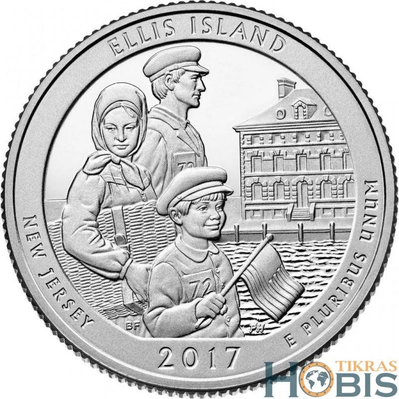 JAV 25 centai, 2017 Ellis Island, New Jersey
