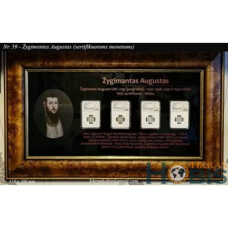 Rėmelis Sertifikuotoms monetoms Nr. 59 - Žygimanto Augusto