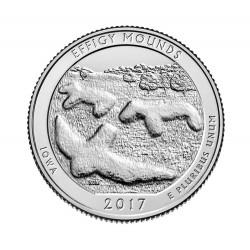 JAV 25 centai, 2017, Effigy Mounds, Iowa