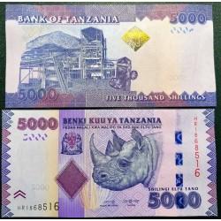 Tanzania 5000 shilings, 2019 P-43c