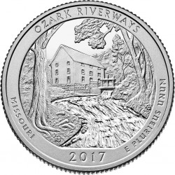 JAV 25 centai, 2017, Ozark Riverways, Missoure