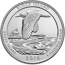 JAV 25 centai, 2018 Block Island Wildlife Refuge