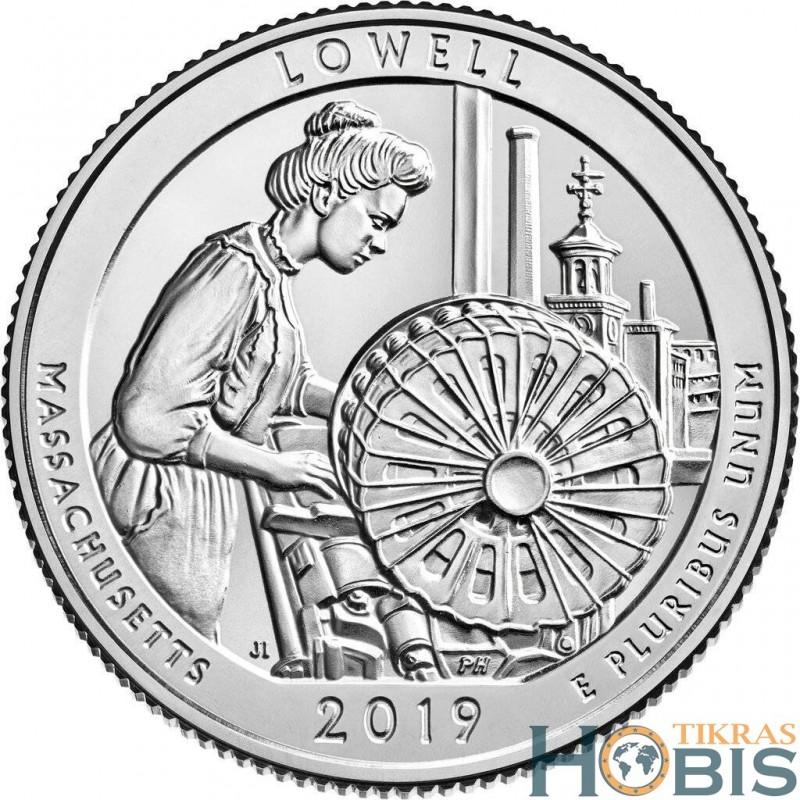 JAV 25 centai, 2019 Lowell, Massachusetts