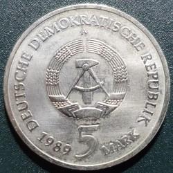 Vokietija - VDR 5 markės, 1989 500th Muhlhausen KM130