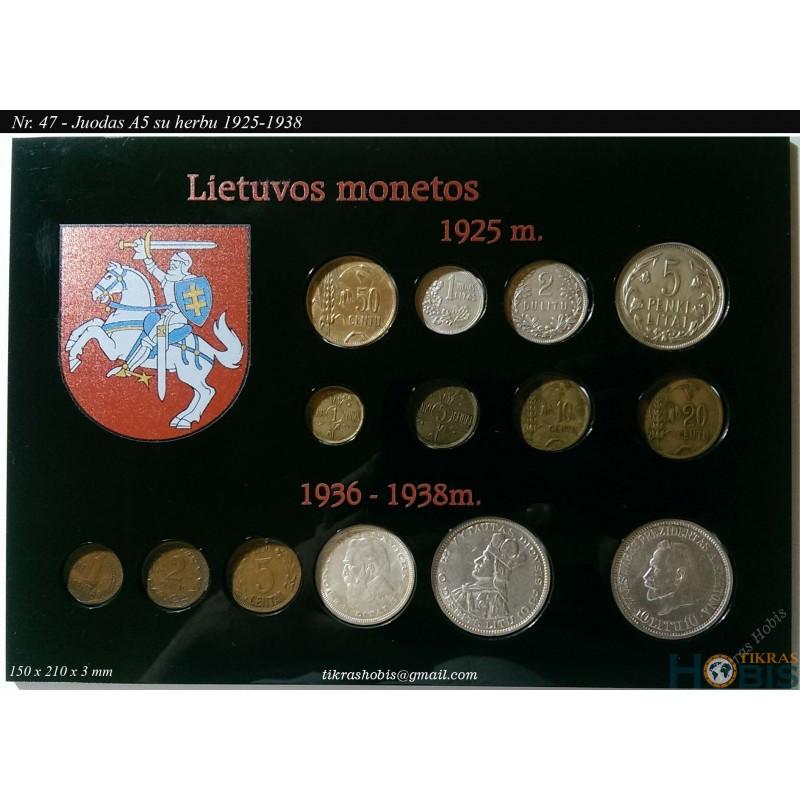 Rėmelis Lietuvos monetoms Nr. 47 - 1925-1938