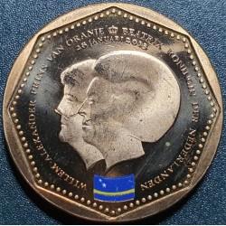 Nyderlandų Antilai 5 guldenai, 2013 Kiurasao KM85
