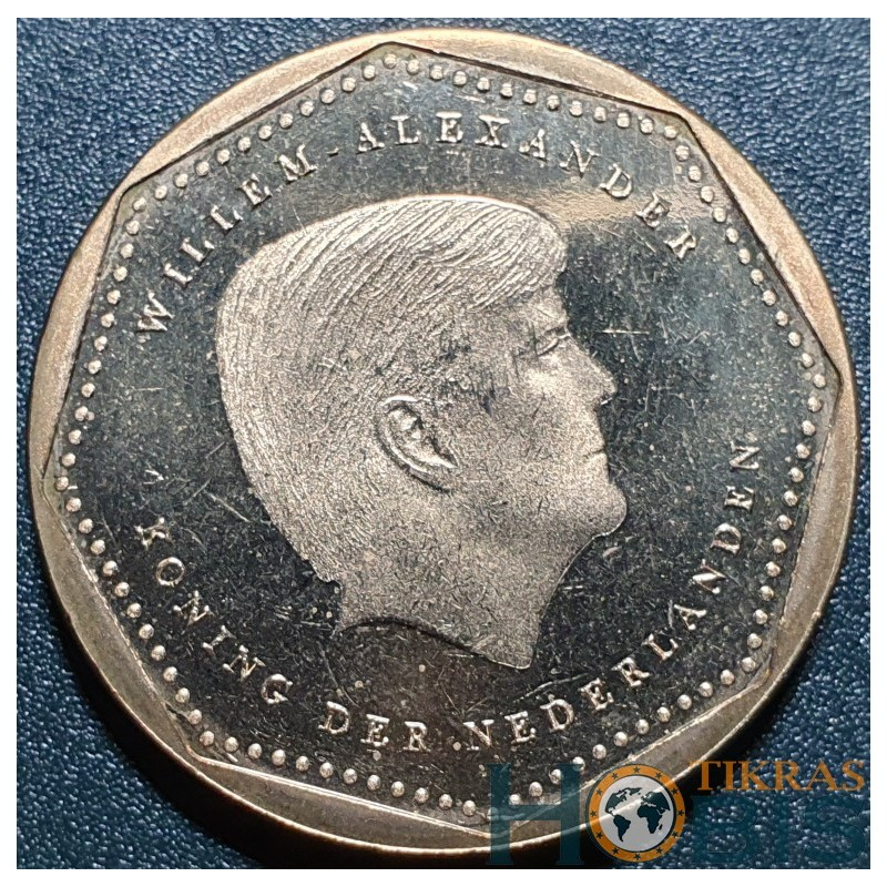 Nyderlandų Antilai 5 guldenai, 2014 UC1