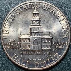 US$1/2, 200th Independence...