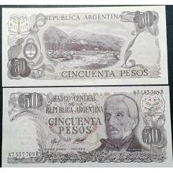 Argentina 50 pesų, 1977...