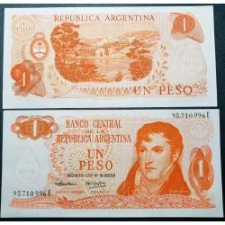 Argentina 1 pesas, 1974 P-293a