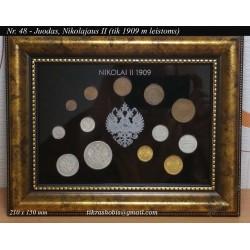 Rėmelis Rusijos monetoms Nr. 48 - 1909 Nikolajus II