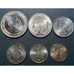 Turkija kurų ir liros 6 vnt...