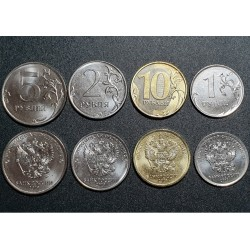 Rusija 1, 2, 5, 10 rublių,...