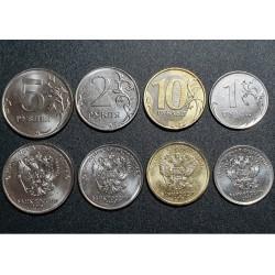 Russia 1, 2, 5, 10 rubles,...