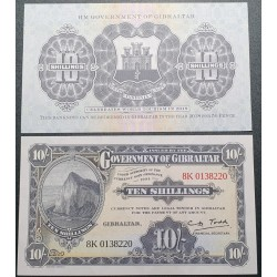 Gibraltaras 10 šilingų,...