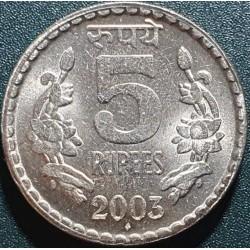 Indija 5 rupijos, 2003 KM154