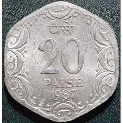 India 20 paise, 1987 KM44