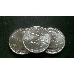 JAV 25 centai, 2002 Mississippi UNC