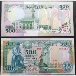 Somalia 500 shillings, 1989...